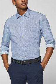 Esprit ανδρικό πουκάμισο με all-over print και τεχνολογία COOLMAX® - 128EE2F017 - Μπλε