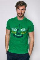 Ανδρικό T-shirt, Chaps - F01-XZAC2-XYAC2 - Πράσινο image