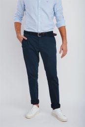 Gant ανδρικό μάλλινο chino παντελόνι μελανζέ Slacks - 1505056 - Μπλε Σκούρο
