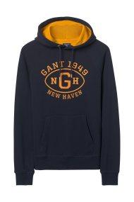 Gant ανδρικό φούτερ με letter print - 2047039 - Μπλε Σκούρο