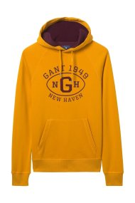 Gant ανδρικό φούτερ με letter print - 2047039 - Κίτρινο