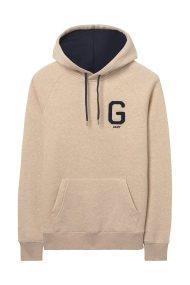 Gant ανδρικό φούτερ με κεντημένο λογότυπο στο στήθος - 2047042 - Μπεζ