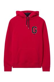 Gant ανδρικό φούτερ με κεντημένο λογότυπο στο στήθος - 2047042 - Κόκκινο