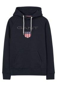 Gant ανδρικό φούτερ με μεγάλο λογότυπο - 276310 - Μαύρο