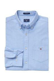 Gant ανδρικό πουκάμισο μονόχρωμο - 3000070 - Γαλάζιο