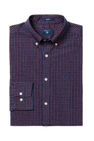 Gant ανδρικό καρό πουκάμισο με μακρύ μανίκι - 3004320 - Μπλε Σκούρο