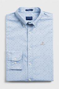 Gant ανδρικό πουκάμισο με μικροσχέδιo - 3005970 - Γαλάζιο