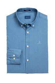Gant ανδρικό πουκάμισο denim Regular Fit - 3009320 - Μπλε