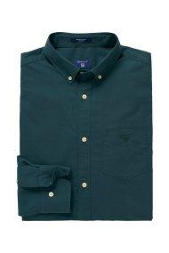 Gant ανδρικό μονόχρωμο πουκάμισο με κεντημένο λογότυπο - 3013530 - Κυπαρισσί