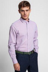 Gant ανδρικό πουκάμισο με καρό σχέδιο Slim Fit Tech Prep™ Royal Oxford - 3024432 - Κόκκινο