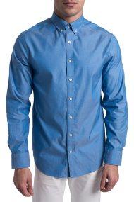 Gant ανδρικό πουκάμισο Pinpoint Oxford Shirt - 303000 - Γαλάζιο