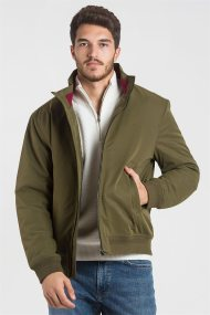 Gant ανδρικό jacket με ψηλό γιακά Hampshire - 7006011 - Χακί