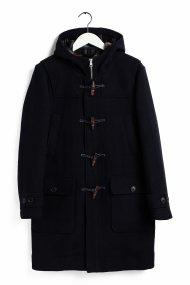 Gant ανδρικό παλτό τύπου montgomery με κουκούλα Coastal Duffle - 7006030 - Μπλε Σκούρο