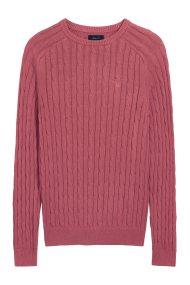 2b2d19cffab8 Gant ανδρικό πουλόβερ Sunbleached με πλέξη κοτσίδα - 8020034 - Κόκκινο