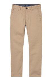Gant παιδικό παντελόνι chinos μονόχρωμο - 815000 - Μπεζ