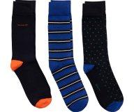Gant ανδρικές κάλτσες μονόχρωμες, πουά και ριγέ (3 τεμάχια) - 9960133 - Μπλε Ηλεκτρίκ