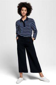 Gant γυναικεία παντελόνα cropped μονόχρωμη - 4150074 - Μπλε Σκούρο
