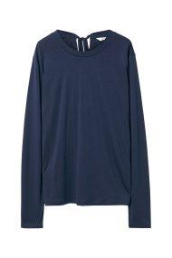 Gant γυναικεία μπλούζα με δέσιμο - 4204400 - Μπλε Σκούρο