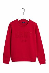 Gant γυναικείο φούτερ με logo letter print - 4204672 - Κόκκινο