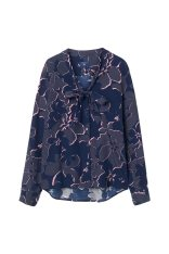 GANT Γυναικείο μακρυμάνικο φλοράλ πουκάμισο GANT - 4301022 - Μπλε Σκούρο 2018