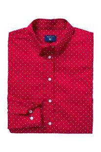 Gant γυναικείο πουκάμισο πουά - 4320052 - Κόκκινο