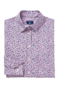 Gant γυναικείο πουκάμισο με mini floral print - 4320053 - Λιλά