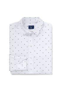 Gant γυναικείο πουκάμισο με all-over print - 4320055 - Λευκό