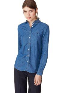 Gant γυναικείο πουκάμισο denim Luxury Chambray - 4321011 - Μπλε