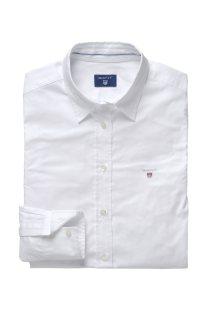 Gant γυναικείο μονόχρωμο πουκάμισο με κεντημένο λογότυπο - 432681 - Λευκό