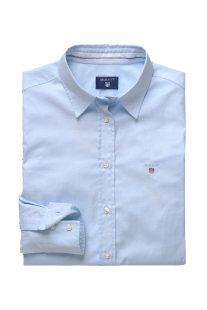 Gant γυναικείο μονόχρωμο πουκάμισο με κεντημένο λογότυπο - 432681 - Γαλάζιο