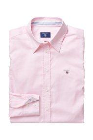Gant γυναικείο μονόχρωμο πουκάμισο με κεντημένο λογότυπο - 432681 - Ροζ