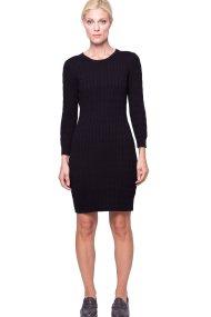 Γυναικείο πλεκτό φόρεμα GANT - 450942 - Μαύρο