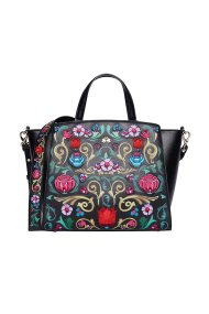 La Martina γυναικεία τσάντα με κέντημα - 41W090-M0002 - Μαύρο