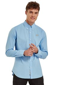 La Martina ανδρικό πουκάμισο με μικρό logo Leon - CCMC02-PP003 - Γαλάζιο