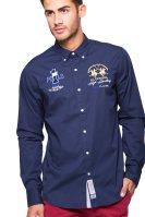Ανδρικό πουκάμισο La Martina - KMC300-PP003 - Μπλε Σκούρο image