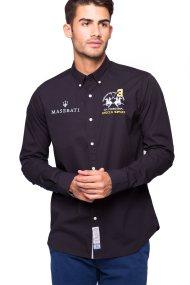 Ανδρικό πουκάμισο La Martina - - Μαύρο