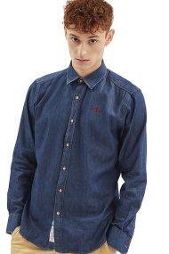Ανδρικό τζην πουκάμισο La Martina - LMC029-DM037 - Μπλε Σκούρο