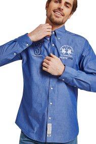 Ανδρικό πουκάμισο Creighton La Martina - LMC300-PP360 - Μπλε