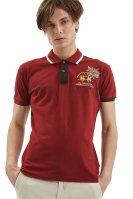 Ανδρική μπλούζα polo La Martina - LMPG01-PK001 - Κόκκινο image