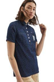 Γυναικείο πουκάμισο Violetta La Martina - LWC007-DM047 - Μπλε Σκούρο