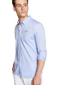 La Martina ανδρικό πουκάμισο γαλάζιο Leon - MMC005-OX052 - Γαλάζιο