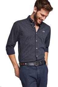 La Martina ανδρικό πουκάμισο μπλε σκούρο Turi - MMC030-PP422 - Μπλε Σκούρο