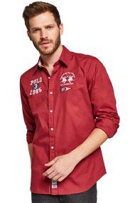 La Martina ανδρικό πουκάμισο Maffeo - MMC314-TW029 - Κόκκινο