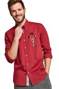 La Martina ανδρικό πουκάμισο Gervasio - MMCM60-PP003 - Κόκκινο