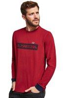 La Martina ανδρική μπλούζα με μανσέτα σε διαφορετικό χρώμα Errol - MMR305-JS177 - Κόκκινο image