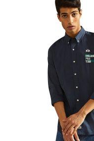 La Martina ανδρικό πουκάμισο Gareth - NMC603-TW029 - Μπλε Σκούρο