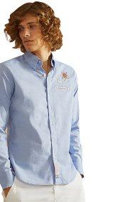 La Martina ανδρικό πουκάμισο Sanford - NMCG01-OX014 - Γαλάζιο