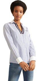 La Martina γυναικείο ριγέ πουκάμισο Rosalind - NWC002-PP427 - Γαλάζιο