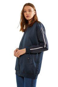 La Martina γυναικείο bomber jacket με καπιτονέ λεπτομέρειες Liviana - NWO002-RA053 - Μπλε Σκούρο