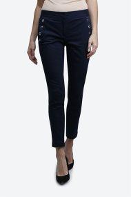 Γυναικείο παντελόνι μονόχρωμο Nautica - 81P104 - Μπλε Σκούρο